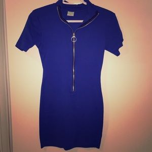 Vintage 90's United colours of Benetton blue dress